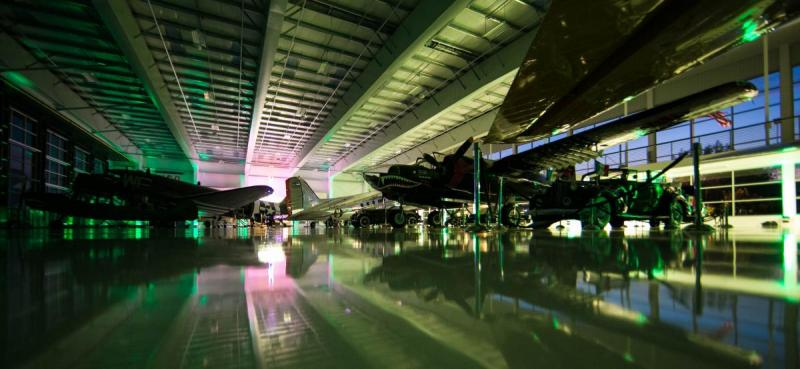 Lyon Air Museum   Special Effects Lighting